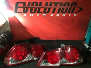 2006-2008 ACURA CSX OEM TAILLIGHTS (INNERS & OUTERS PAIR)