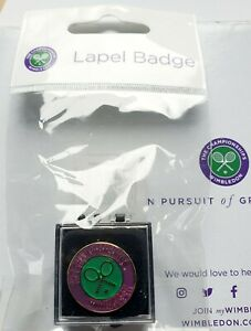 OFFICIAL WIMBLEDON TENNIS LAPEL PIN BADGE BRAND NEW IN SEALED PACKET