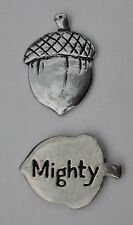 cc Mighty Acorn strength spirit HANDCRAFTED PEWTER POCKET TOKEN CHARM basic