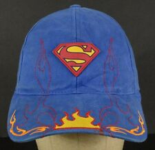 Superman Flames Man of Steel DC Comicbook Blue Baseball Hat Cap Adjustable Youth