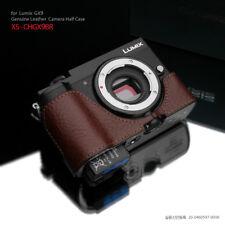 GARIZ XS-CHGX9BR Genuine Leather Half Case for Panasonic Lumix GX9 Brown