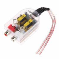 1x Car Radio Speaker High To Low Metal RCA Line Audio Impedance Converter SR