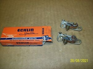New Old Stock 49-74 Ford 6 cylindar points 2 sets 1 Echlin 1 other Made in USA