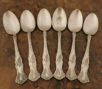 IS Vintage Grapes 6 Teaspoons 1847 Rogers Vintage Silverplate Flatware Lot B