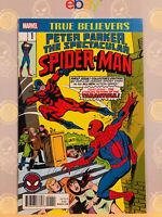 Spectacular Spider-Man #1 True Believers NM/M MINT Reprint Peter Parker Marvel