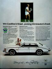 "1983 Cadillac Seville Wimbledon Contest-Original Print Ad 8.5 x 11"""