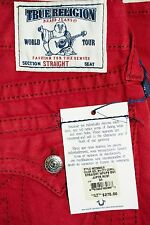 TRUE RELIGION Men's Straight With Flaps Jupiter Rust Jeans 31X33  NWT $275