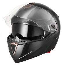 New DOT Flip up Modular Full Face Motorcycle Helmet Dual Visor Motocross Black L