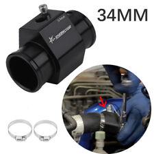 34MM Black Water Temp Temperature Joint Pipe Sensor Gauge Radiator Hose Adapter