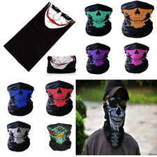 Gothic Skull Skeleton Head Tube Scarf Face Cover Shawl Cycling Hiking Neck-Wrap