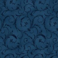 Maywood Studio Midnight Blue Beautiful Sroll 108 Wide Back 100% Cotton SBY