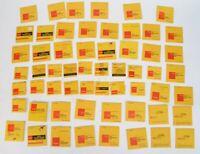 Lot of (57) Kodak Wratten and Color Compensating Filters + (1) Frame Holder