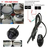 Fisheye Wide-angle Car Rear Front Side View Reverse Backup Camera CCD NTSC &