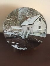 Vintage Decorative Maurice Lenell Litho Cookie Tin Winter Chicago 10""