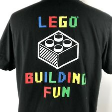 Uniqlo x LEGO Building Fun Shirt Adult Large Black Multicolor Short Sleeve Tee