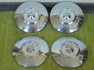 "55 56 Ford Dog Dish HUB CAPS 10 1/2"" Set of 4 Hubcaps 1955 1956"