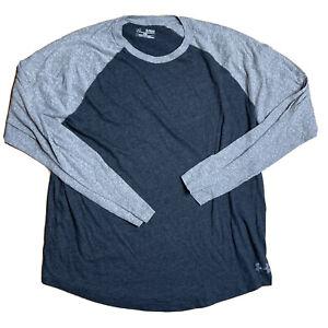 Under Armour Henley Long Sleeve Tee Shirt Mens Size XL Extra Large Loose Heatgea