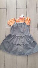 Ensemble T-shirt et robe en jean, Mini Adélie, 2 ans, neuf