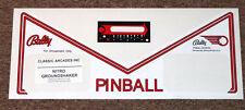 NITRO GROUNDSHAKER Pinball Apron Decal Set LICENSED