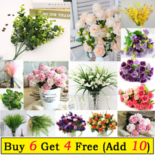 Artificial Silk Flowers Bunch for Wedding Party Home Outdoor Bouquet Decoration