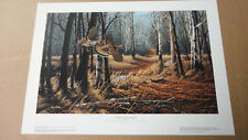 Terry Redlin - Old Loggers Trail - Ruffed Grouse - Encore Edition