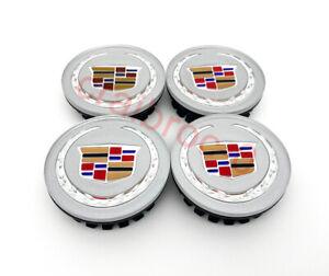 4 pcs Sliver Color Crest Wheel Emblem Center Hub Cap for Cadillac ATS CTS 66MM