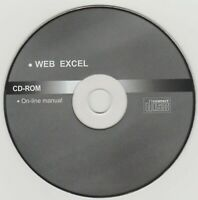 Web Excel | On Line Manual 💽 CD  | Original Disk Mint | Suit Collector 💽 ✔️ |