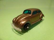 VINTAGE PLASTIC 1960s HONGKONG VW VOLKSWAGEN BEETLE BUG - BRONZE - VERY GOOD