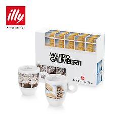NIB Illy Art Collection 2 MUG Coffee Cups MAURIZIO GALIMBERTI Milano Roma