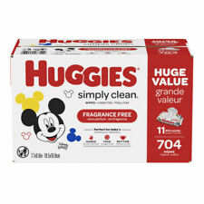 Huggies Disney Baby Simply Clean Fragrance Free Baby Wipes 11 Packs of 64 Wipes