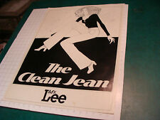 "original 1970's LEE Brand aprox 20 x 27"" POSTER: THE CLEAN JEAN Ms Lee GREAT"