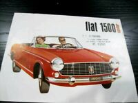 Original Vintage Car Sales Brochure 1961-62 FIAT 1500 SPIDER US Market Mint