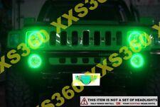 ORACLE Hummer H2 03-10 GREEN Surface Mount LED Headlight Halos Waterproof