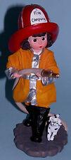 "Madame Alexander resin doll figurine ""Fire Fighter #90635 Cira 2000 dalmation"