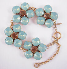 Catherine Popesco 14k Gold Plated Large Pacific Opal Crystals Flower Bracelet