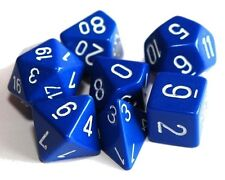 Set of 7 Blue Poly Dice