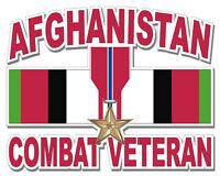 """Bronze Star Afghanistan Combat Veteran 5.5"""" Sticker / Decal"""
