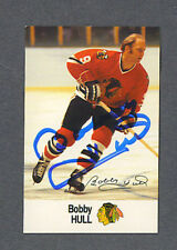 Bobby Hull signed Blackhawks 1988 Esso hockey card