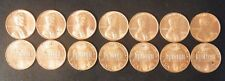 1968 S to 1974 S 7 Choice Unc Lincoln Cent Run Set US Coins all from SF Mints