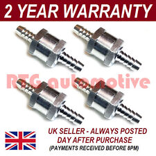 "4 X 6MM 1/4"" ONE WAY ALUMINIUM NON RETURN CHECK VALVE PETROL DIESEL OIL WATER"