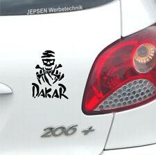 Rallye DAKAR S042 Aufkleber 12x9cm schwarz glanz - Totenkopf Auto Mini Tattoo