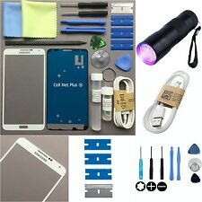 WHITE Outer Glass lens Screen Replacement Repair KIT for SAMSUNG GALAXY NOTE 3