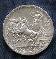 MONETA COIN REGNO ITALIA RE VITTORIO EMANUELE III LIRE 2 QUADRIGA BRIOSA 1914 #3