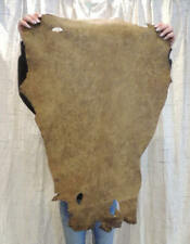 Waxy Bomber Brown Leather Hide for Native Crafts Buckskin Purses Journals