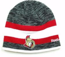 Ottawa Senators Reebok KR67Z NHL Team Logo Striped Hockey Knit Hat/Beanie/Toque
