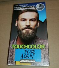 touch up Colour Dye for men Gel Moustache and Beard Natural medium Brown + brush