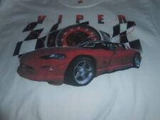 HANES - Dodge Viper Mens White Cotton T-shirt Size : M / NEW