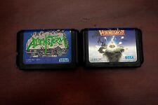 Sega Mega Drive Alienstorm + Vermlion Japan Genesis original games US Seller