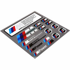 16pcs M Power Color Styling Emblem Badge M Power Logo Car Sticker For All BMW