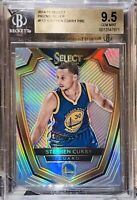 Pop 1 of 8!🔥2014-15 Stephen Curry PANINI SELECT SILVER PRIZM #113 BGS 9.5💎PSA
